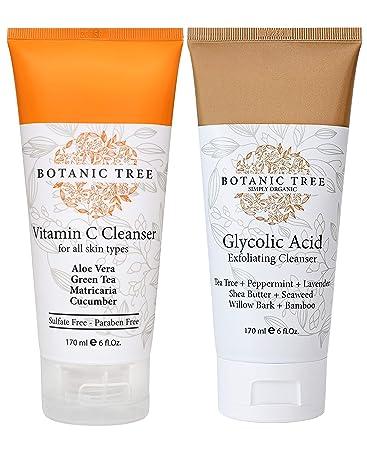 Amazon Com Double Cleanse With Glycolic Acid Exfoliator Face Wash