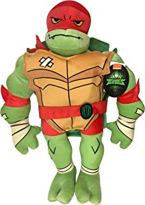 Jay Franco Nickelodeon Teenage Mutant Ninja Turtles Raphael Plush Stuffed Pillow Buddy - Super Soft Polyester Microfiber, 19 inch (Official Nickelodeon Product)