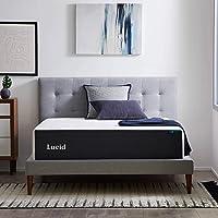 LUCID 14-inch Memory Foam Gel Infusion Mattress Queen Deals