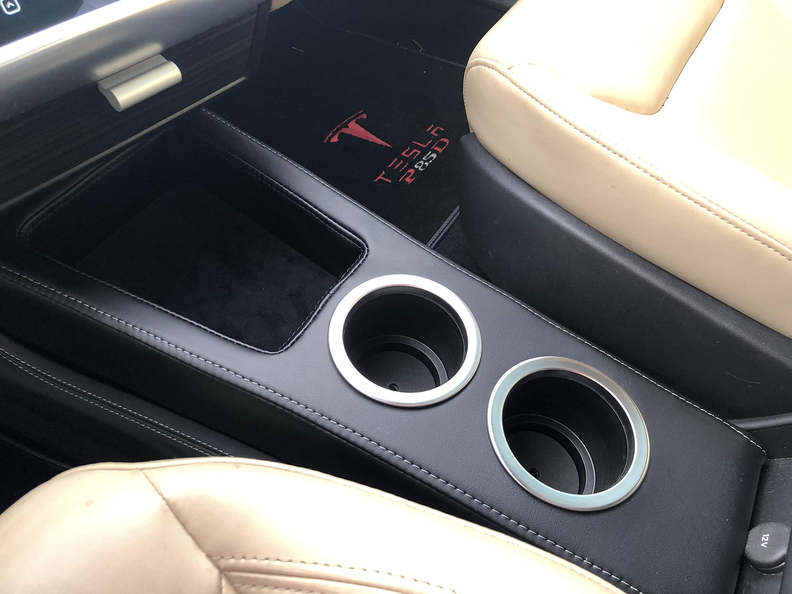 EVamped Tesla Model S Front Console/Cupholder w/Qi Wireless Charging by EVamped (Image #1)