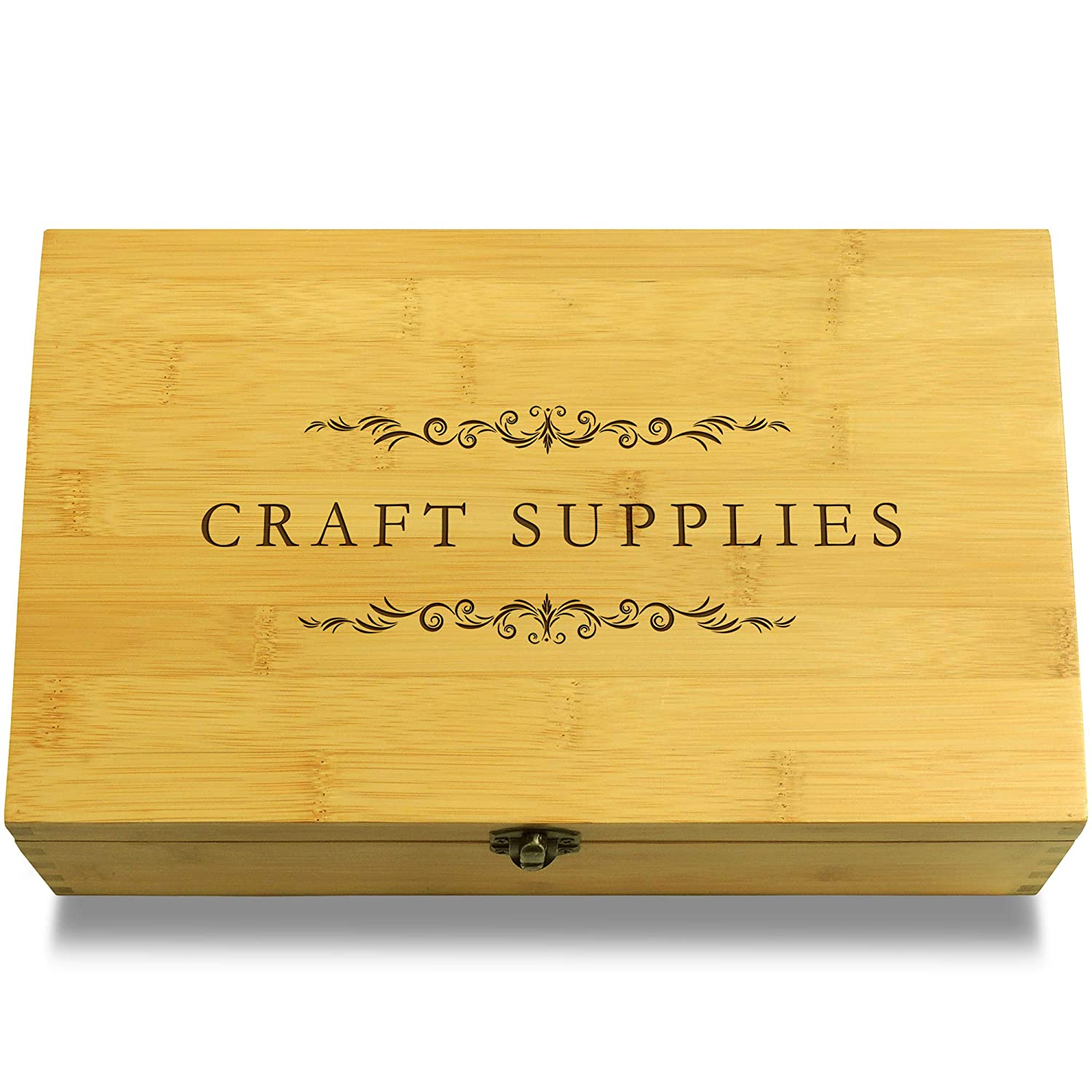Cookbook People Art Supplies Multikeep Box - Keepsake Wood Adjustable Organizer
