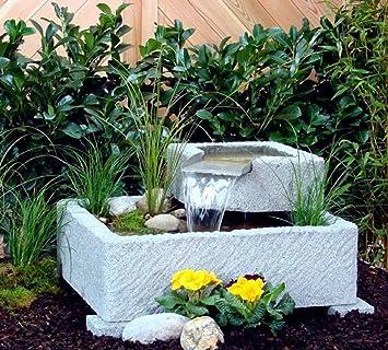 Seliger Gartenbrunnen Vigdis Wasserspiel Wasserfall Edelstahl ...