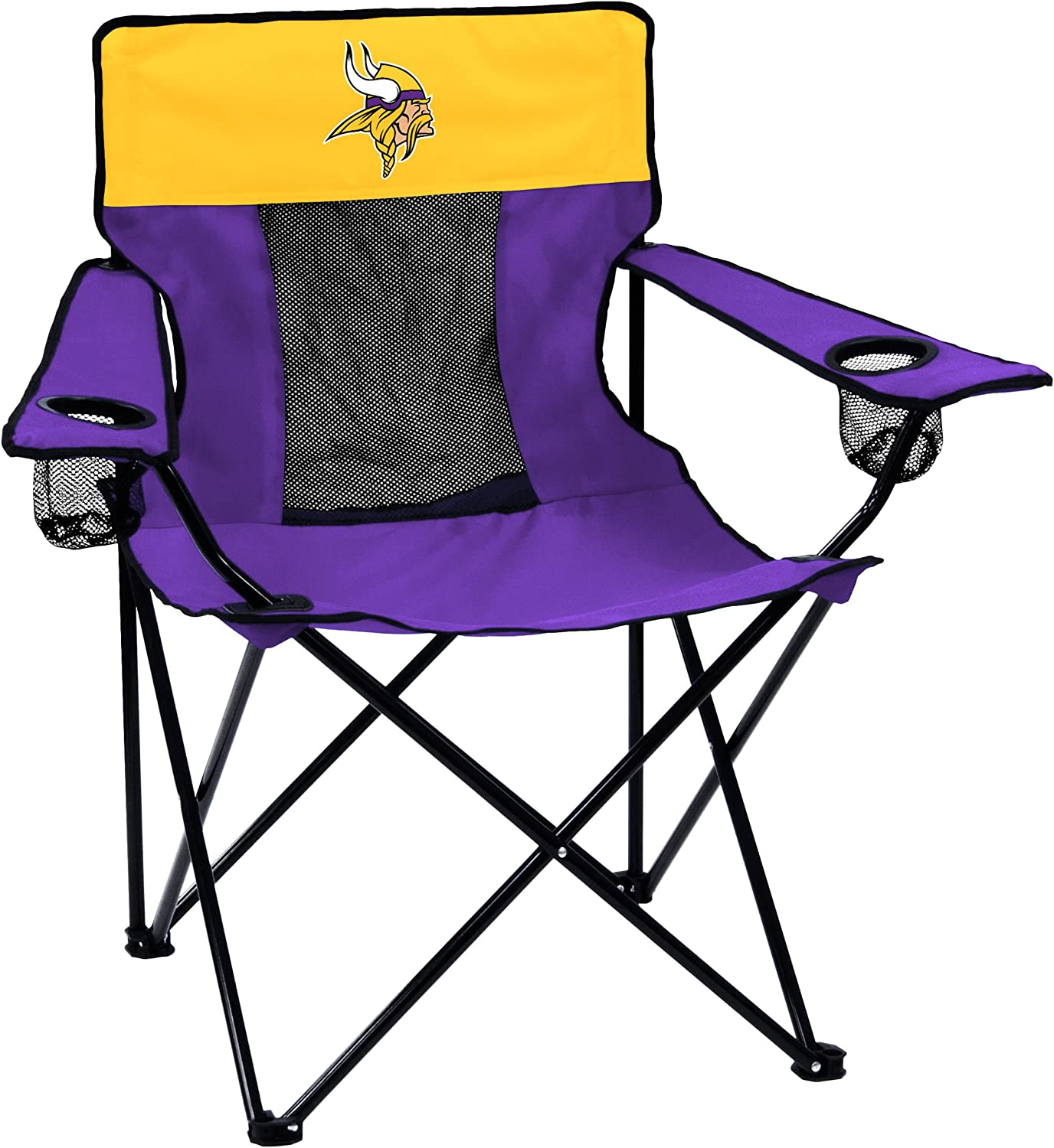 Logo Brands Officially Licensed NFL Minnesota Vikings Unisex Elite Chair, One Size, Team Color