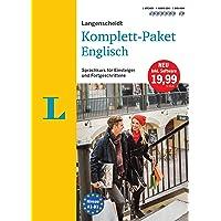 Langenscheidt Komplett-Paket Englisch - Sprachkurs mit 2 Büchern, 6 Audio-CDs, 1 DVD-ROM, MP3-Download: Sprachkurs für Einsteiger und Fortgeschrittene