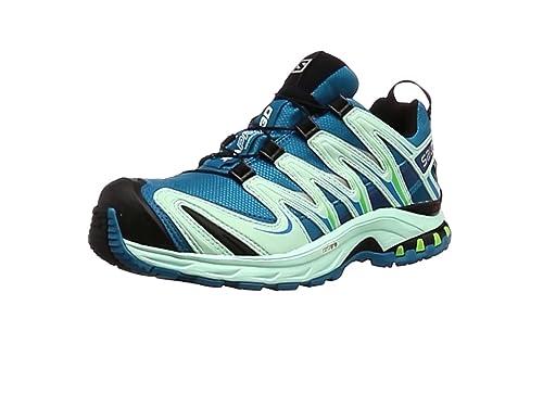Salomon L37919700, Zapatillas de Trail Running para Mujer, Azul (Fog Blue / Igloo