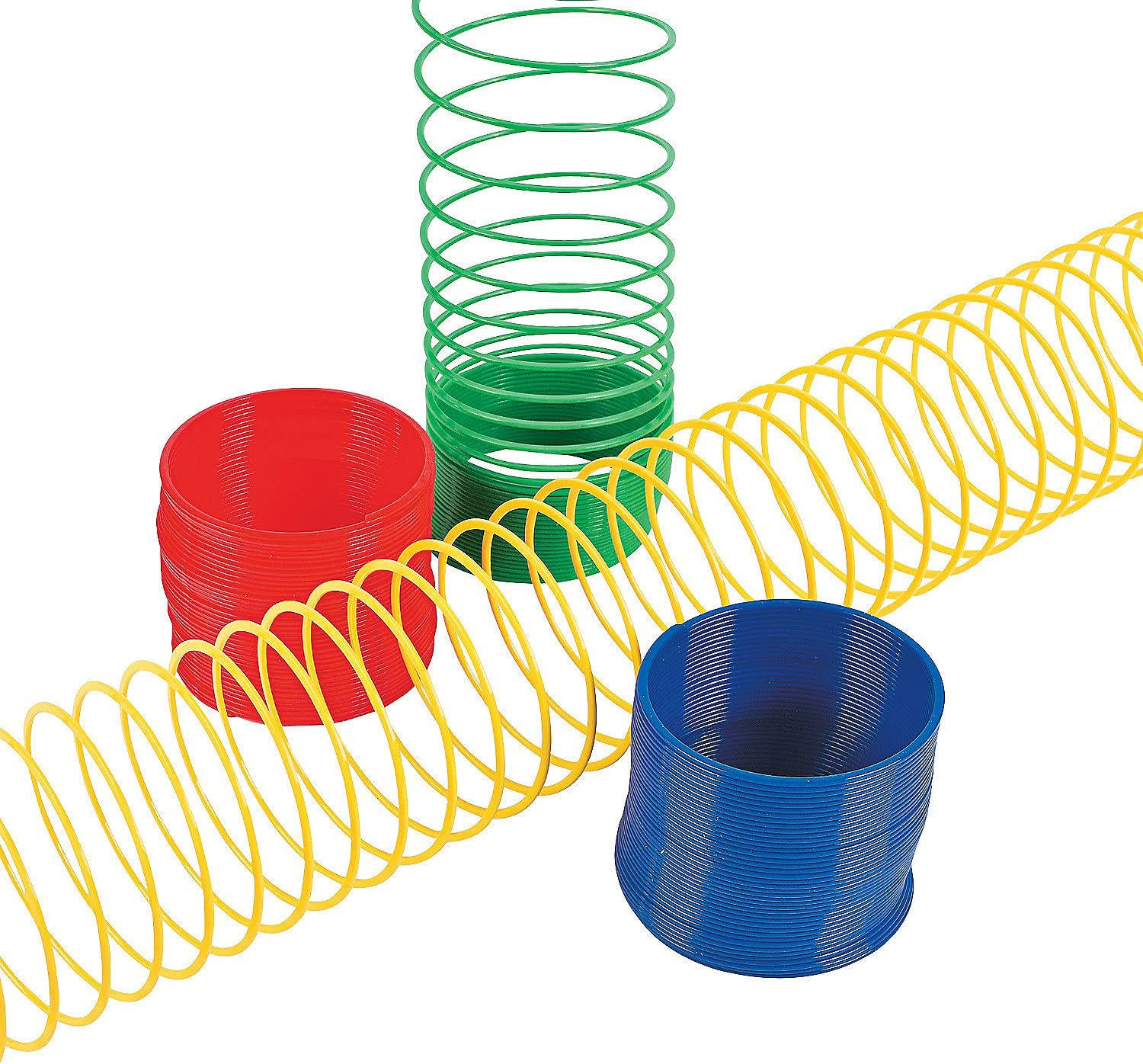 Fun Express Plastic Magic Spring Compare to Slinky and Save Novelty 1 Dozen Assorted Colors