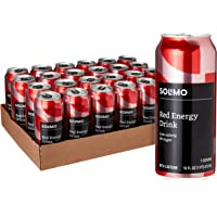 24-Pack Amazon Brand Solimo Red Energy Drink (Sugar Free, 16 Fluid Ounce)