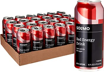 24-Pack Amazon Brand Solimo Red Energy Drink (Sugar Free, 16 fl oz)
