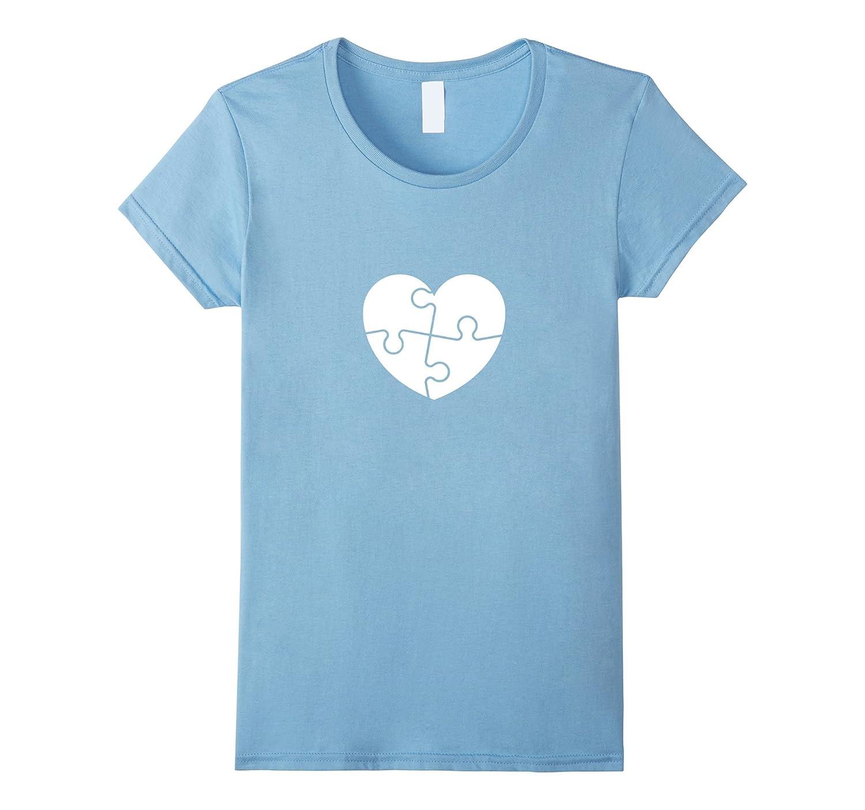 Blue Autism Puzzle Love Shirt – Light It Up Blue T-Shirt