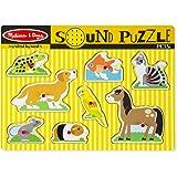 Melissa & Doug Pets Sound Puzzle - Wooden Peg Puzzle With Sound Effects (8 pcs)