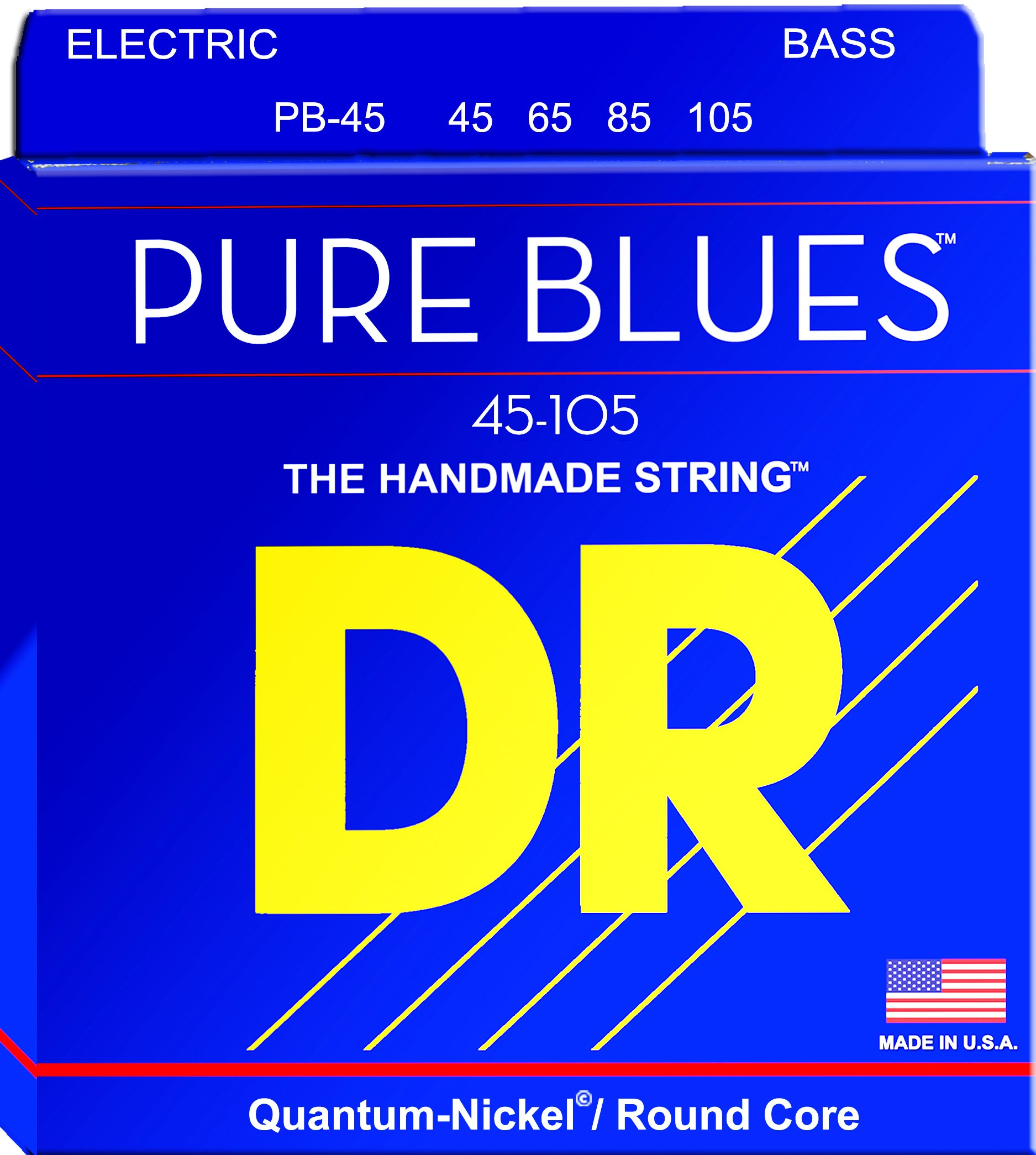 DR Strings PURE BLUES Bass Guitar Strings (PB-45) by DR Strings