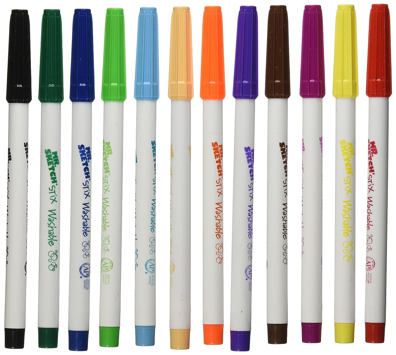 Assorted Colors Fine Tip 216-Count Sanford 03618 Mr Sketch Scented Stix Markers