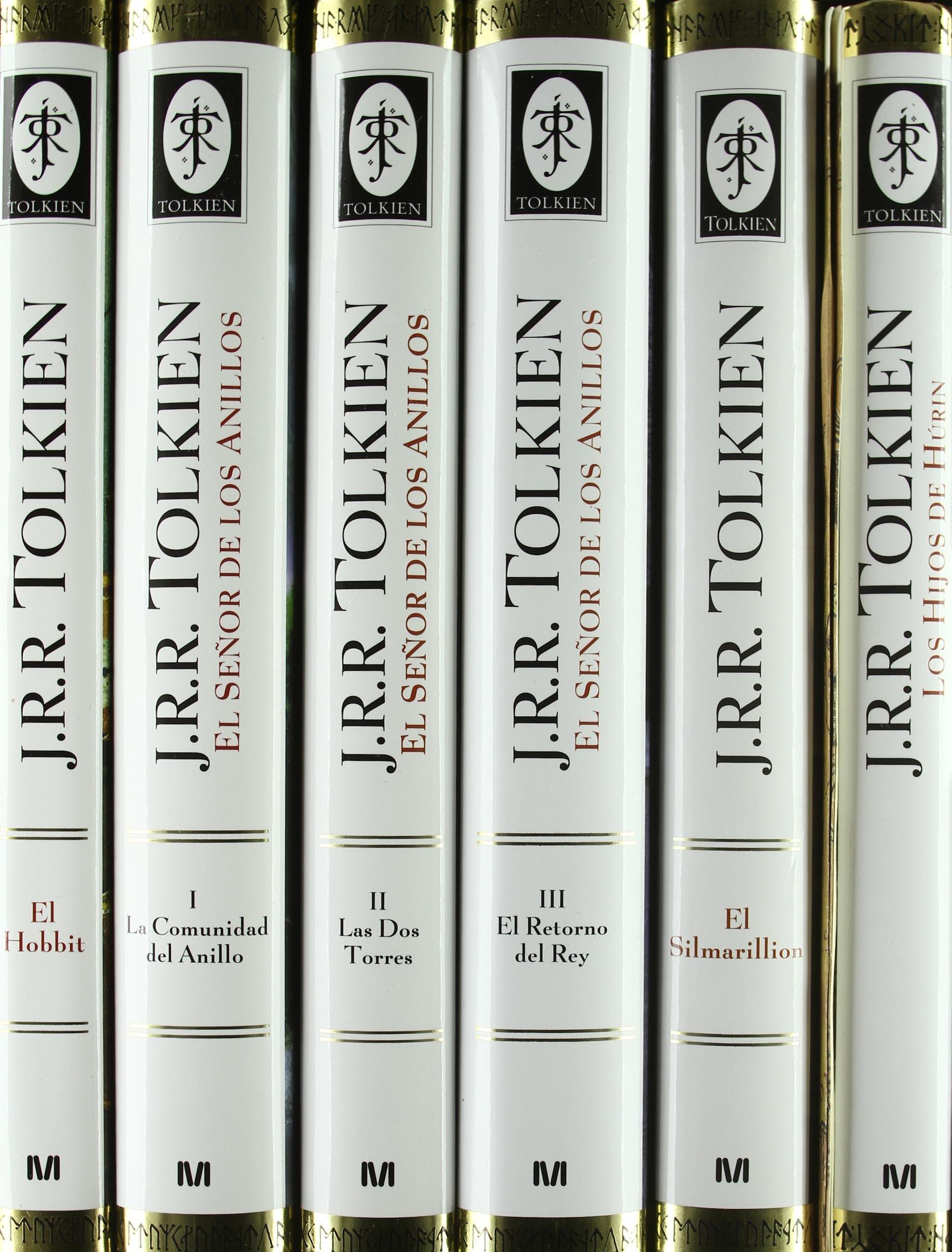 Estuche Tolkien 6 vols. + mapa Biblioteca J. R. R. Tolkien: Amazon ...