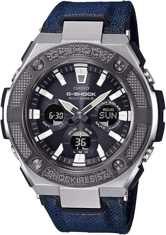 Casio Reloj Analógico-Digital para Hombre de Cuarzo con Correa en Tela GST-W330AC-2AER