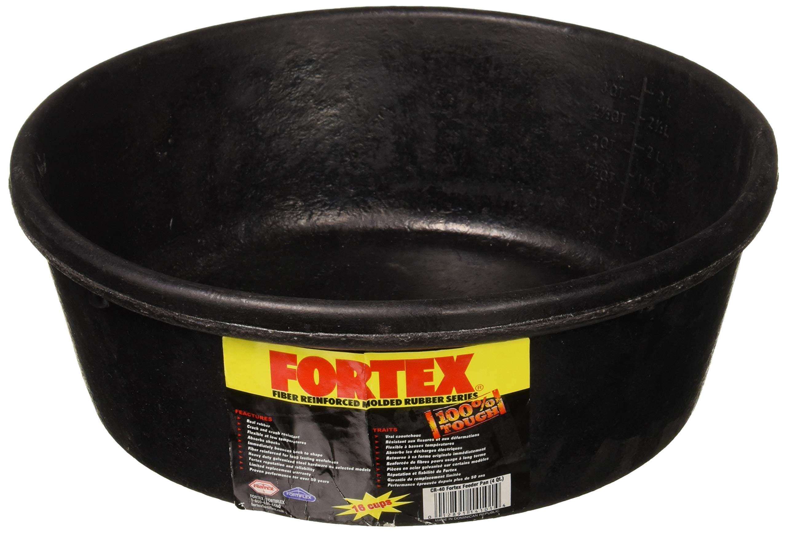 Fortex Feeder Pan for Dogs/Cats and Horses, 4-Quart by Fortex