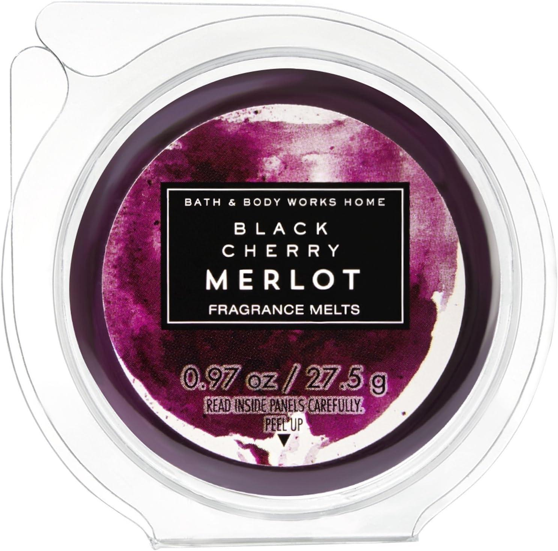 LOT OF 2 BATH /& BODY WORKS BLACK CHERRY MERLOT FRAGRANCE MELTS WAX TART CANDLE