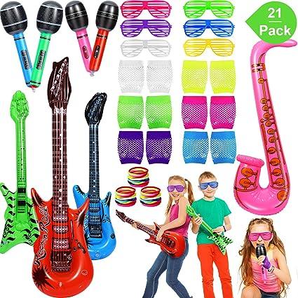 Amazon.com: Juego de juguetes inflables de estrellas de rock ...