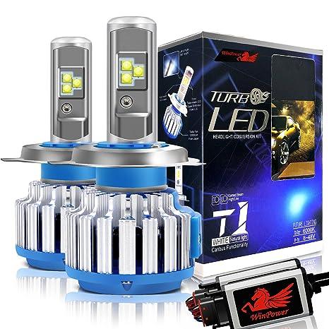 WinPower Bombillas LED H4 (HB2 / 9003) Faro Todo en uno Kit de conversión