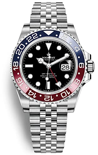 Lujoso reloj suizo de corona de alta gama Master II automático azul rojo cerámica bisel JUBILEE 126710BLROLET: Amazon.es: Relojes