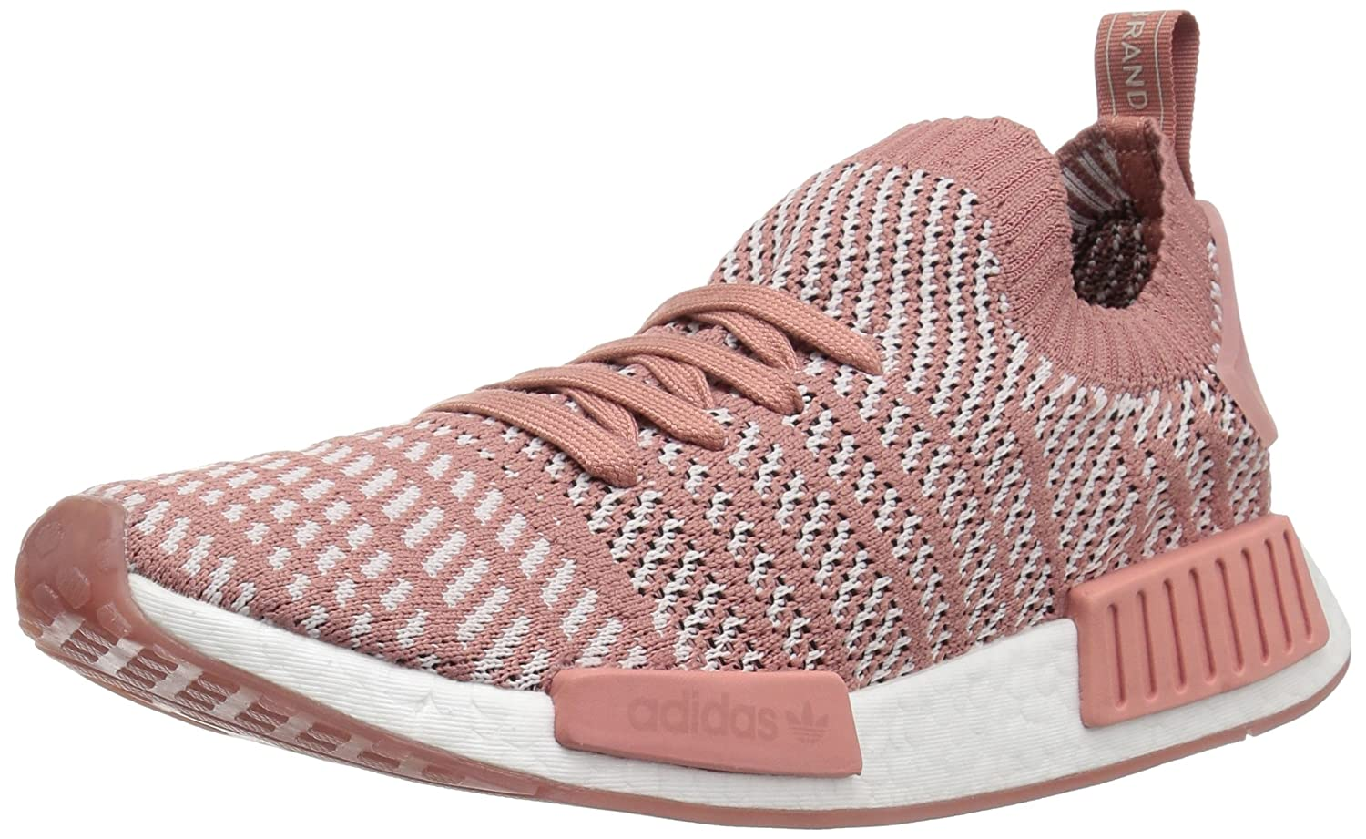adidas Originals Women's NMD_r1 Stlt Pk B078XLKMNR 9.5 B(M) US|Ash Pink/Orange Indigo/White