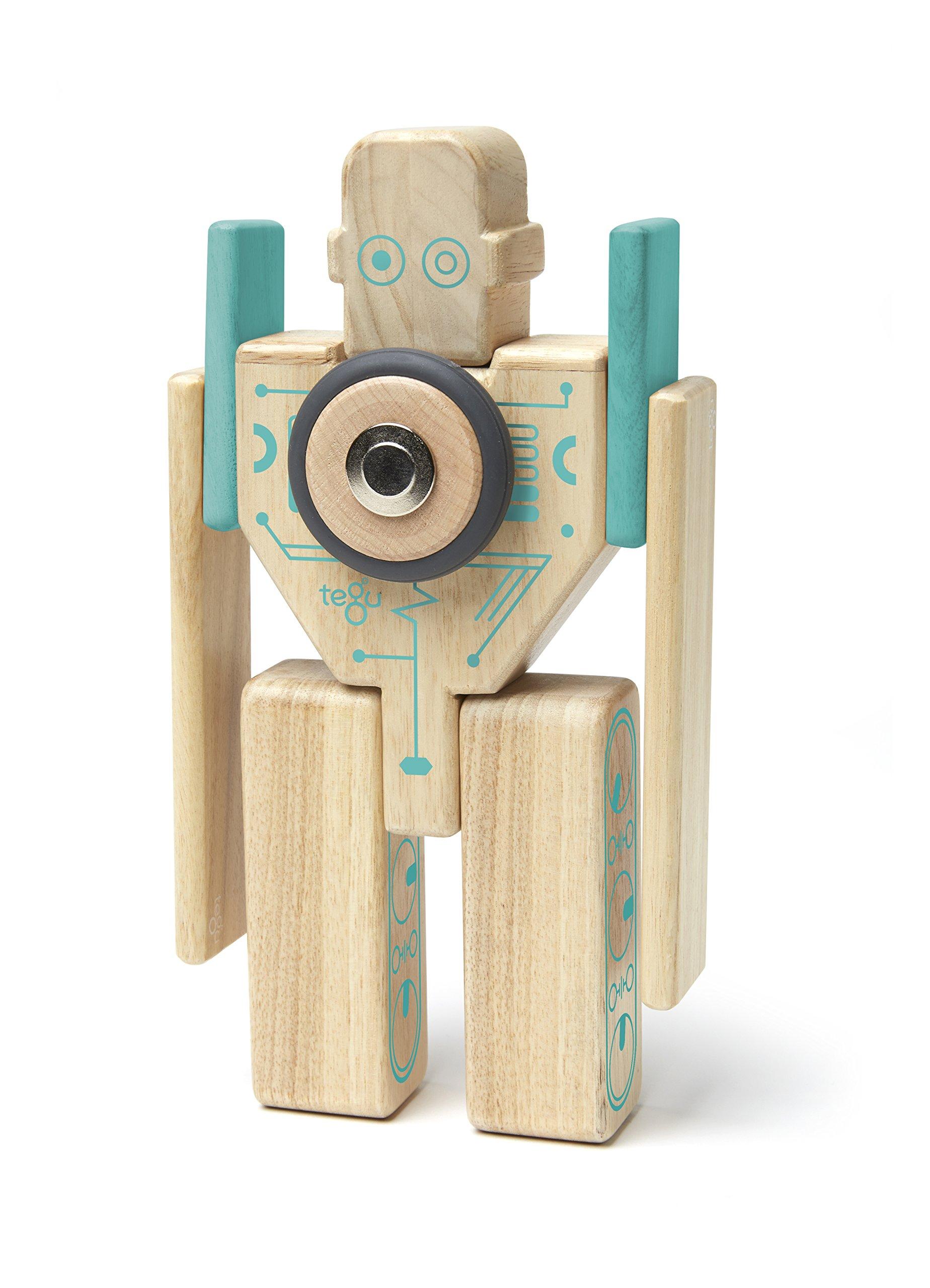Tegu Magbot Magnetic Wooden Block Set