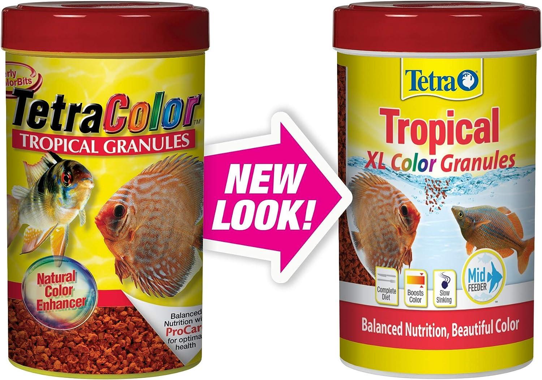 B00025Z6SO Tetra Tropical XL Color Granules with Natural Color Enhancer 81V9JHJ0e6L