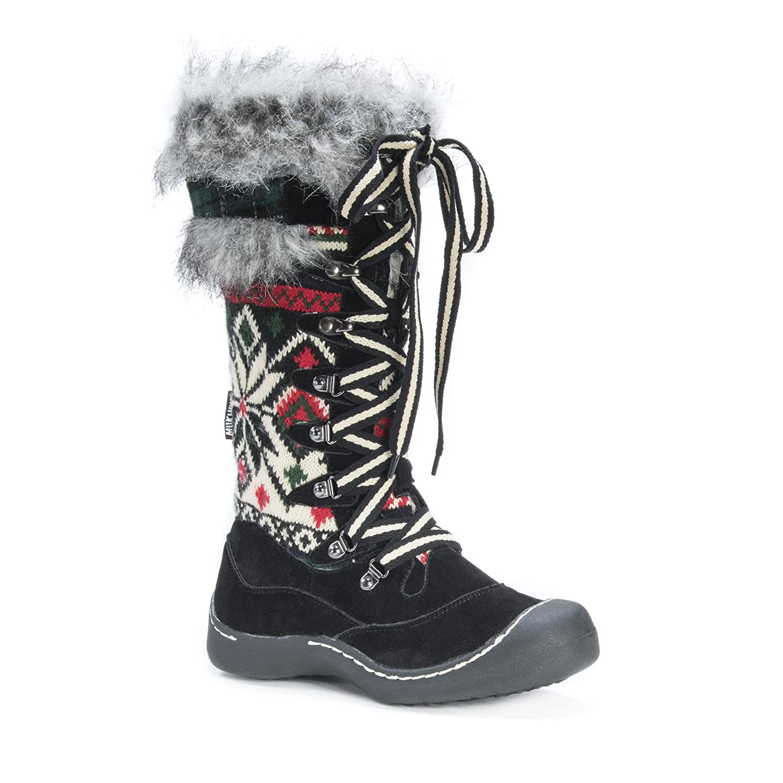 MUK LUKS Women's Gwen Snow Boot B01M1NEOWE 6 B(M) US|Black