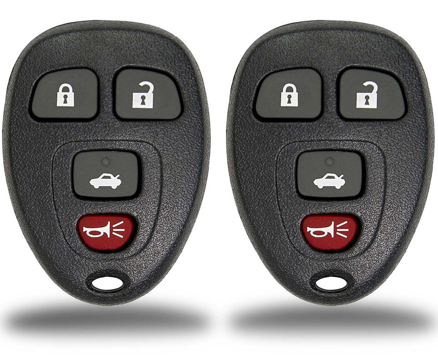2 Pack KeylessCanada /© New Keyless Entry 4 Button Key Fob Car Remote Compatible with 15912859 15913416 For Select Buick Chevrolet Vehicles