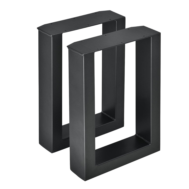 [en.casa] 2 x Conjunto de Patas de mesa - Set de 2x patas de mesa - Metal - Patas de los muebles - 30 x 43 cm - Para banco o para ...