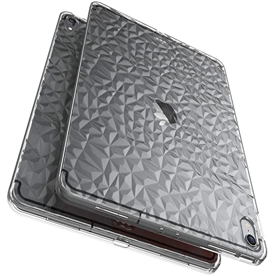 buy online 04952 38add Luvvitt iPad Pro 11 Case Clear Diamond Flexible TPU Slim Back Cover with 3D  Diamond Pattern and Shockproof Drop Protection for Apple iPad Pro 11 in ...