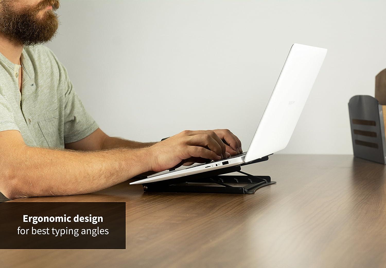 Amazon.com: VIVO Black Economy Height Adjustable Riser Stand ...