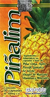 Pinalim Capsules - Pineapple, Green Tea, Apple Vinegar - Weight Loss Supplement - 30