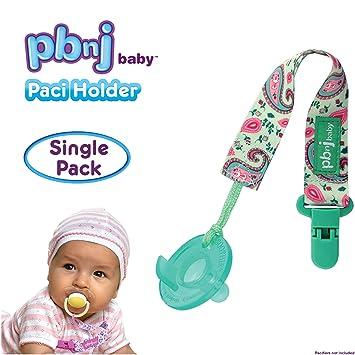 Amazon.com: PBnJ Baby Chupete Paci Soporte Holder, Estampado ...