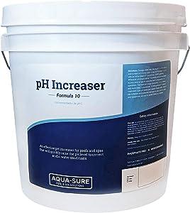 AQUA-SURE Pool & Spa pH Increaser (Pure Sodium Carbonate, Soda Ash), Premium Alkalinity Increaser Pail, 15 Pound Bucket