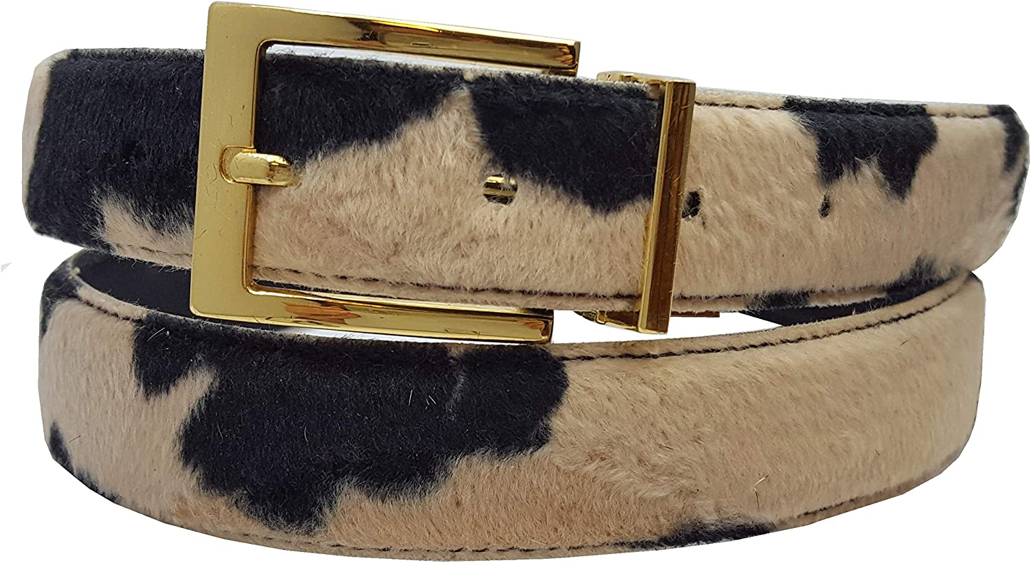 Vegan Faux Fur Belt In...