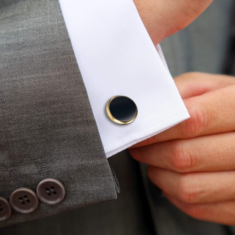 Cadeau de f/ête Festival Anniversaire Argent dor/é pour Chemise de Mariage OIDEA Boutons de Manchette pour Homme Boutons de Manchette pour Homme
