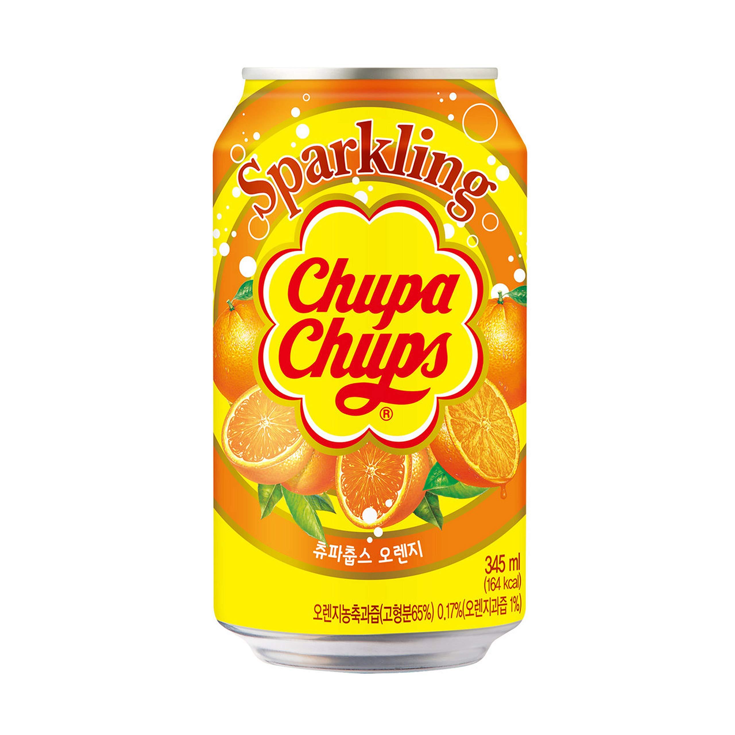 Chupa Chups Sparkling Orange - 6 Cans
