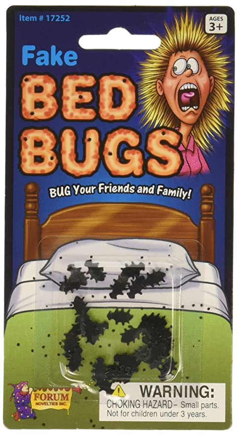 Amazon Com Forum Novelties Fake Bed Bugs Pack Of 3 Multi Colour