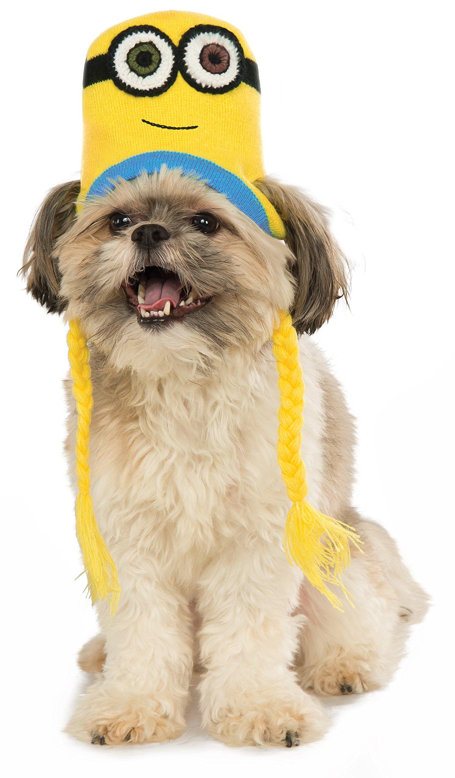 Minion Bob Knit Dog Headpiece, Small/Medium