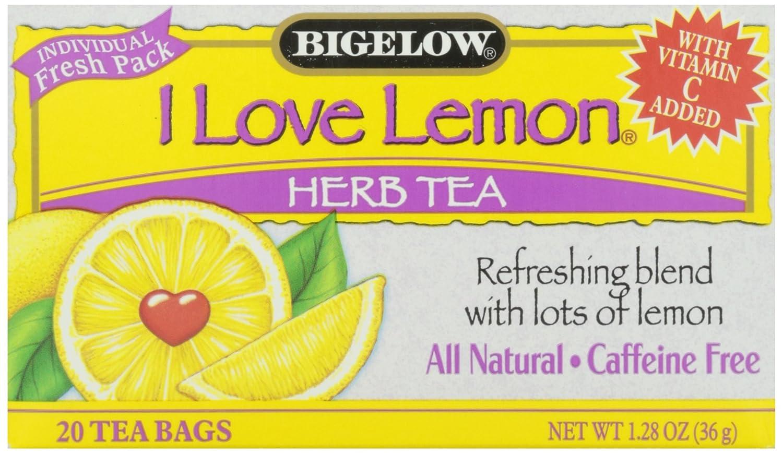 Bigelow herbal tea - Amazon Com Bigelow I Love Lemon Herbal Tea 20 Ct Grocery Gourmet Food