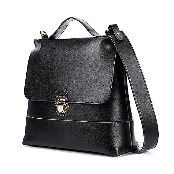 UtoteBag Women Shoulder Bag Top Handle Bag Genuine Leather Tote Handbag  Crossbody Bag Ladies Purse ( 1cef6bce97