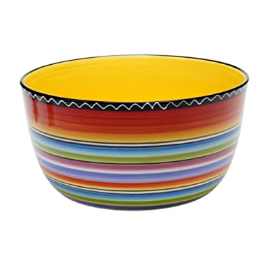 Certified International Tequila Sunrise Deep Bowl, 10.75 by 5.5-Inch