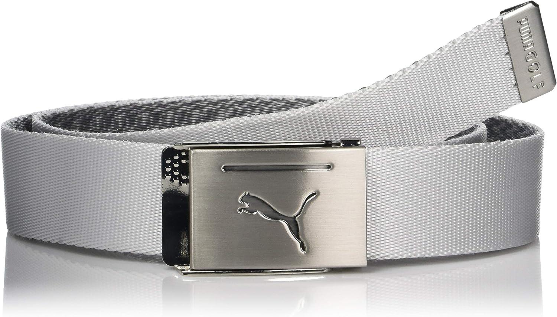 piloto diario transfusión  Amazon.com: Puma Golf 2019 Men's Reversible Web Belt (One Size), Bright  White: Clothing