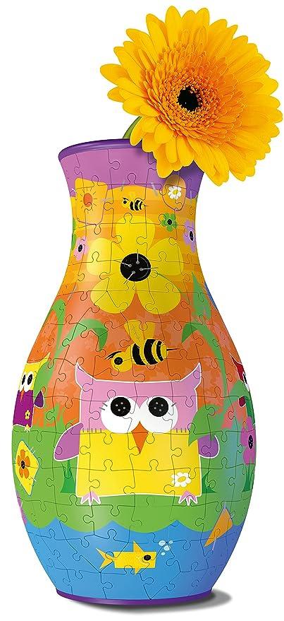 Amazon Ravensburger My 3d Boutique Funky Owls Vase 216pc 3d