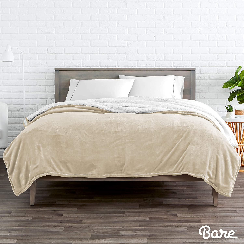 Fluffy /& Soft Plush Bed Blanket Reversible Hypoallergenic Bare Home Sherpa Fleece Blanket Lightweight Twin//Twin XL, Oyster Twin//Twin Extra Long