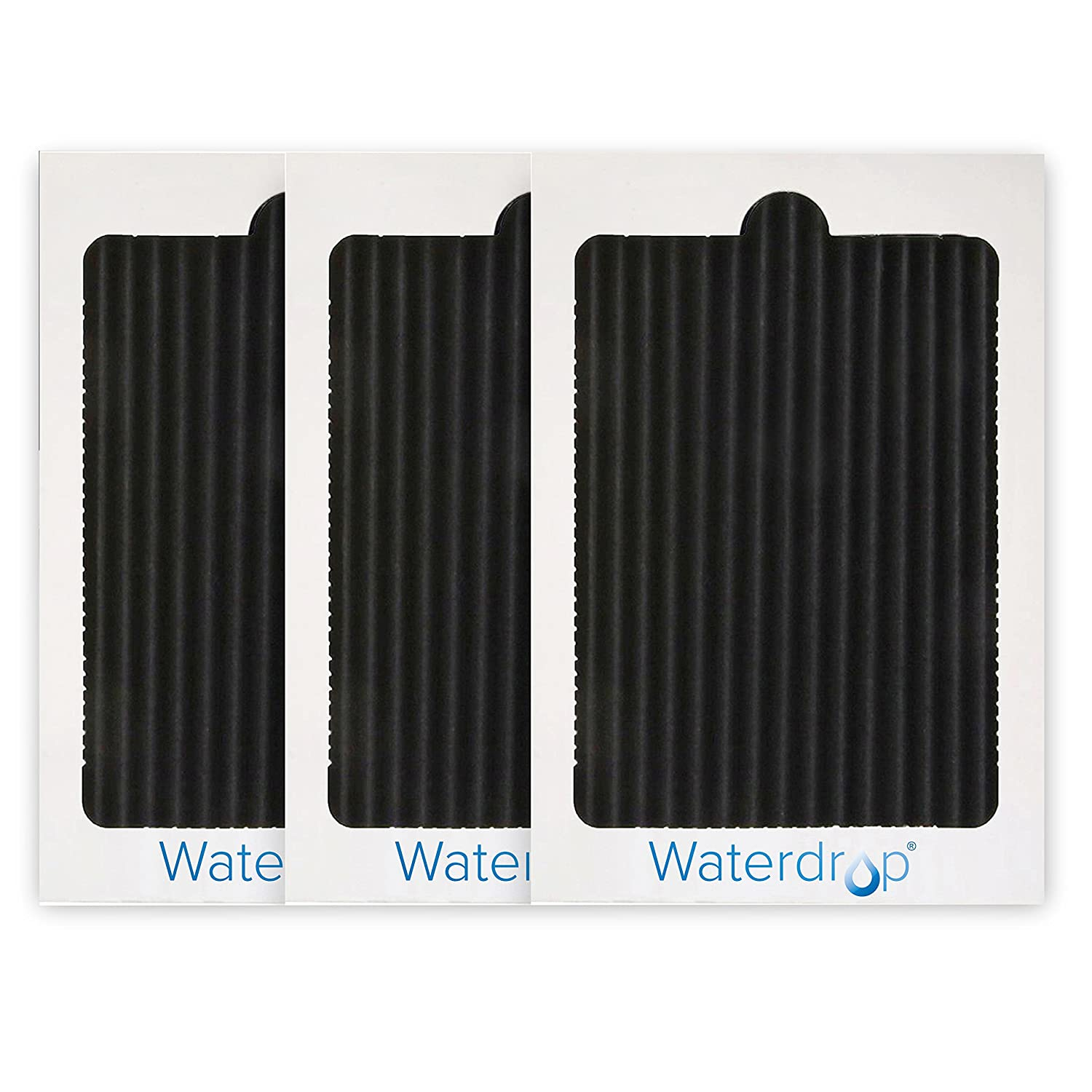 Waterdrop Replacement Refrigerator Air Filter, Compatible with EAFCBF, PAULTRA, SCPUREAIR2PK, 242047801, 242061001, 241754001, 3 Pack, Package May Vary