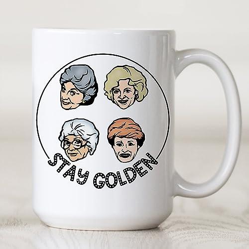 2d0d2cde8a1 Amazon.com  15 oz Golden Girls Coffee Mug Stay Golden Microwave ...