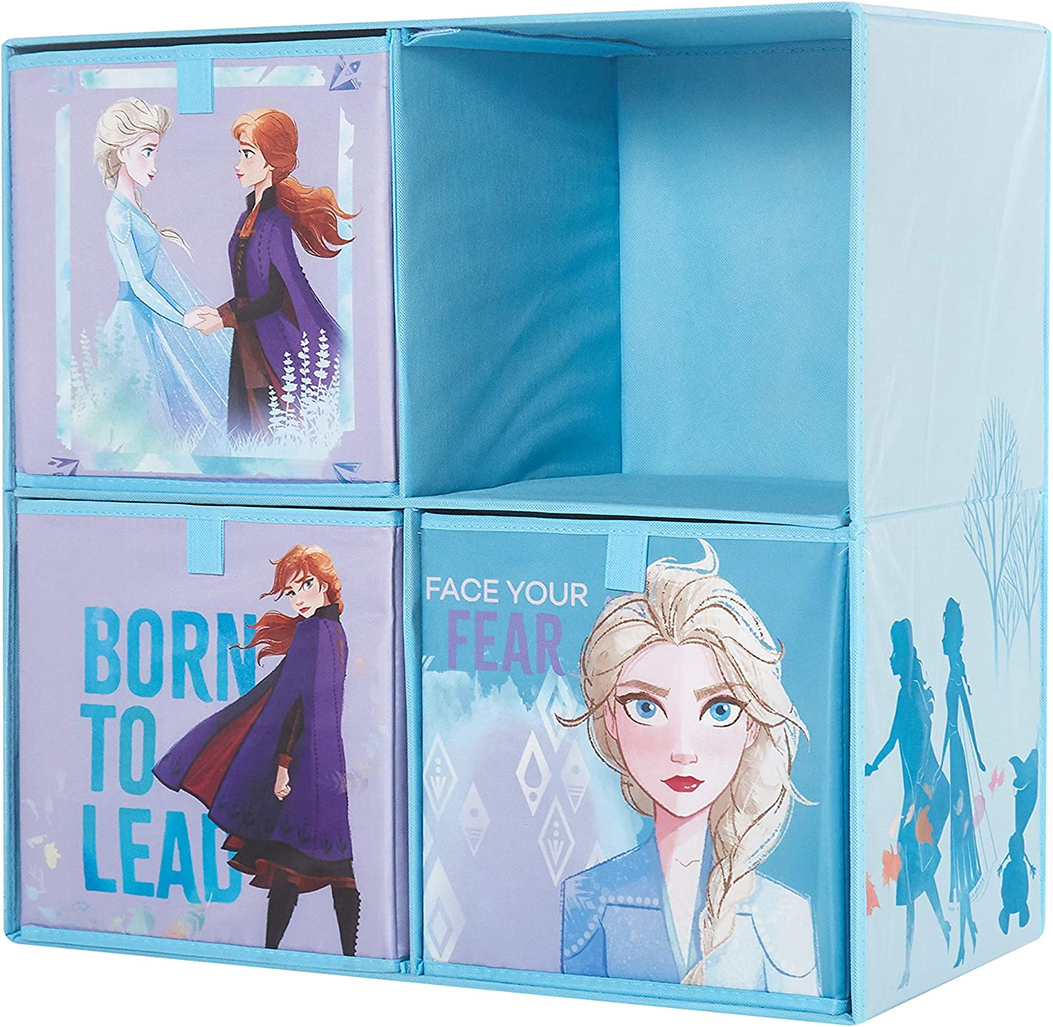 Disney Frozen 2 Collapsible Soft Storage Cubby with 3 Collapsible Cubes