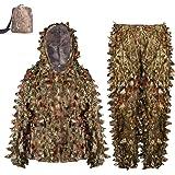 Amazon.com: Pellor Ghillie Trajes, 3D Leafy Ghille Traje ...
