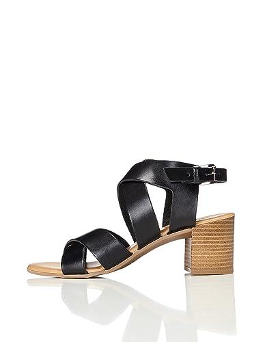 71f5fa5952e9 find. Sandales Talons Femme, Noir (Black), 40 EU: Amazon.fr: Chaussures et  Sacs